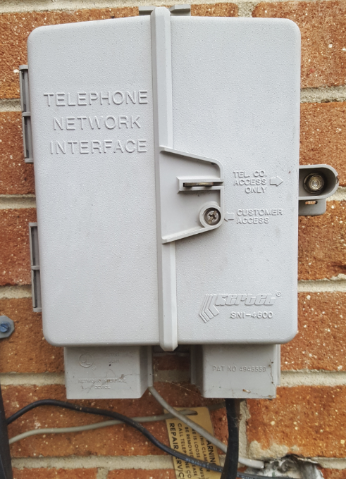 Exterior Telephone Cable Removal