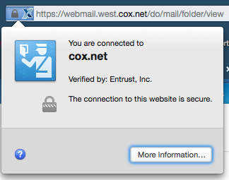 Cox Website not totally secure - Internet Forum - Internet Forum ...